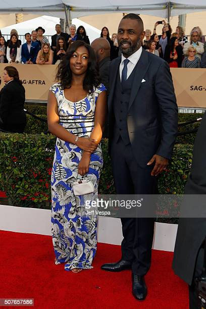 Isan Elba and actor Idris Elba attend the 22nd Annual Screen Actors Guild Awards at The Shrine Auditorium on January 30 2016 in Los Angeles California