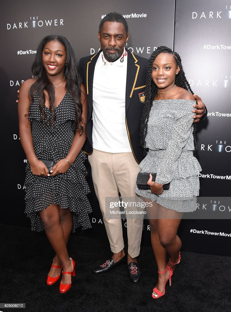 Isan Elba and Idris Elba attend 'The Dark Tower' New York Premiere on July 31, 2017 in New York City.