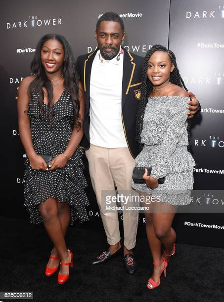 Isan Elba and Idris Elba attend 'The Dark Tower' New York Premiere on July 31 2017 in New York City