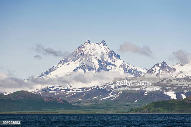 Isanotski Peaks, A Volcano On Unimak Island, The Easternmost Island Of The Aleutian Chain Is Locally Known As Ragged Jack