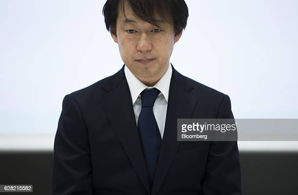 Isao Moriyasu president and chief executive officer of DeNA Co attends a news conference in Tokyo Japan on Wednesday Dec 7 2016 Moriyasu whose game...