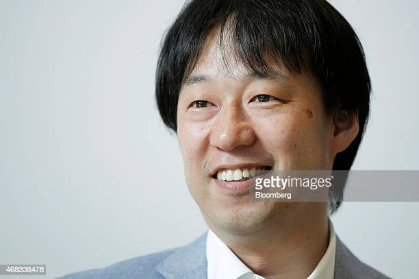 Isao Moriyasu president and chief executive officer of DeNA Co reacts during an interview at the company's headquarters in Tokyo Japan on Tuesday...