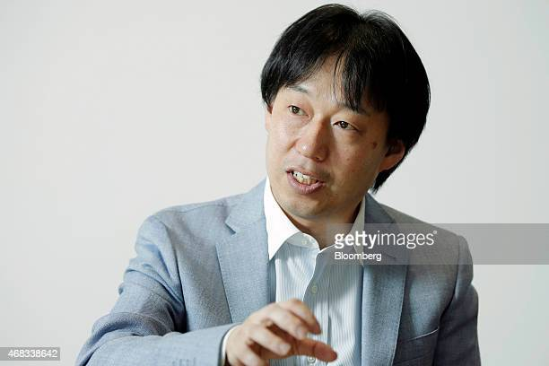 Isao Moriyasu president and chief executive officer of DeNA Co speaks during an interview at the company's headquarters in Tokyo Japan on Tuesday...