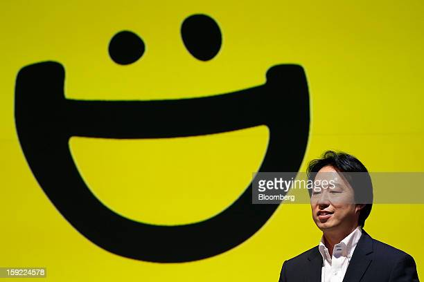 Isao Moriyasu president of DeNA Co attends a news conference in Tokyo Japan on Thursday Jan 10 2013 DeNA will offer music services for iOS and...