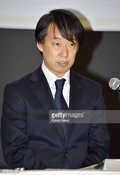 Isao Moriyasu president of Japanese mobile Internet company DeNA Co speaks at a press conference in Tokyo on Dec 7 2016 DeNA apologized after its...