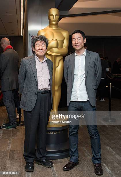 Isao Takahata and Yoshiaki Nishimura attend the 87th Annual Academy Awards Oscar Week Celebrates Animated Features at Samuel Goldwyn Theater on...