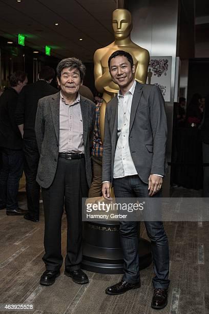 Isao Takahata and Yoshiaki Nishimura attend the 87th Annual Academy Awards Oscar Week Celebrates Animated Featuresat Samuel Goldwyn Theater on...