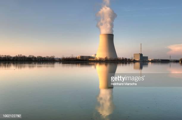 Isar Nuclear Power Plant, Ohu, in Essenbach near Landshut, Lower Bavaria, Bavaria, Germany
