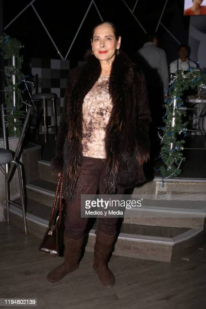 Isaura Espinoza poses for photos during a special screening of the second season first chapter of 'Esta historia me suena' on December 18 2019 in...