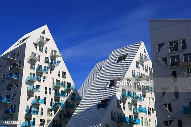 isbjerget residential, modernes wohnen in aarhus, dänemark - pejft stock-fotos und bilder