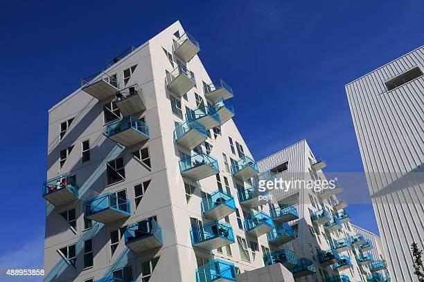 isbjerget residental modern housing in aarhus, denmark - pejft stock pictures, royalty-free photos & images