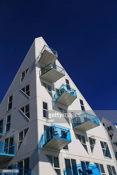 isbjerget residental modern housing in aarhus, denmark - pejft stock pictures, royalty-free photos & images