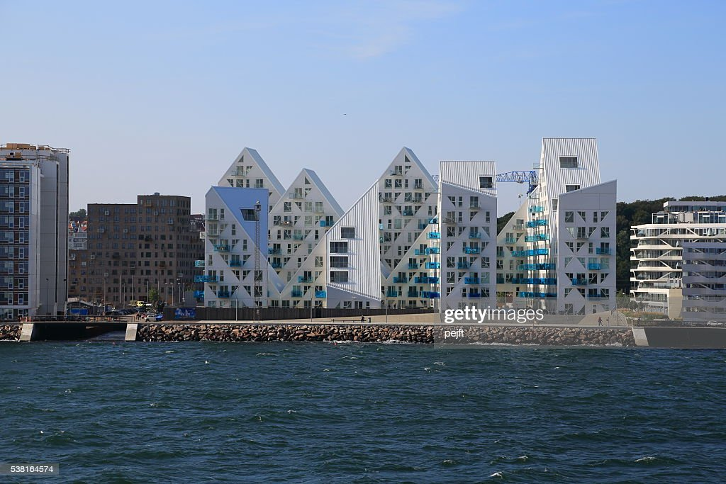 Isbjerget residental modern Housing in Aarhus, Denmark : Stock Photo