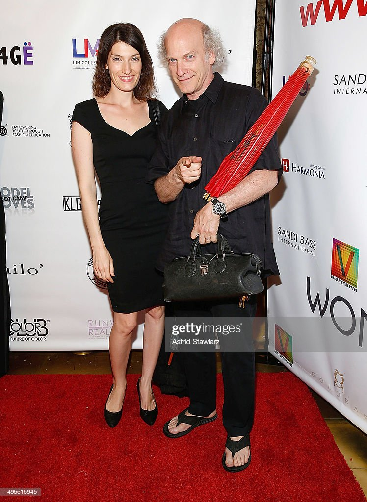Isca Greenfield-Sanders and Timothy Greenfield-Sanders attend the 2nd Annual Women & Fashion FilmFest Red Carpet Opening at Gold Bar on June 3, 2014 in New York City.