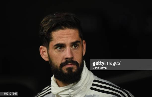 Isco Alarcon of Real Madrid CF comes out of the player's tunnel before the start of the Liga match between Real Madrid CF and Real Betis Balompie at...