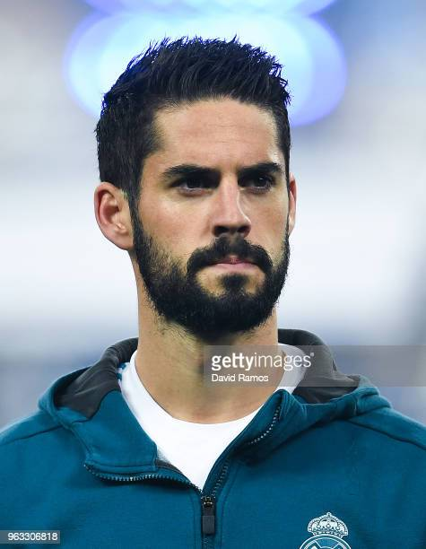Isco Alarcon of Real Madrid CF looks on prior to the UEFA Champions League final between Real Madrid and Liverpool on May 26 2018 in Kiev Ukraine