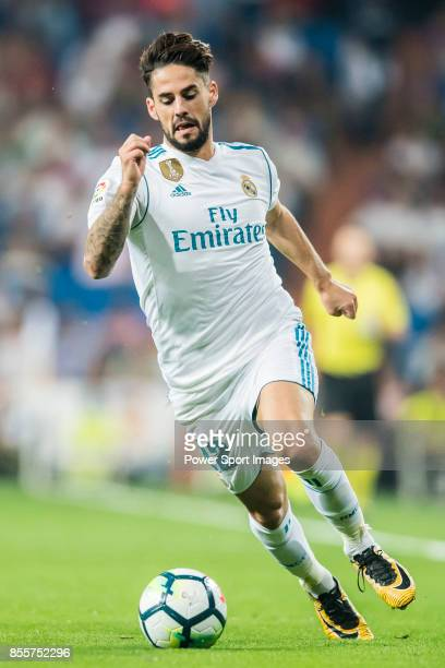 Isco Alarcon of Real Madrid in action during the La Liga 201718 match between Real Madrid and Real Betis at Estadio Santiago Bernabeu on 20 September...