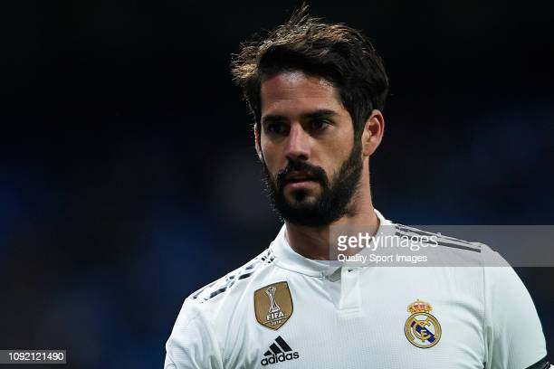 Isco Alarcon of Real Madrid looks on during the Copa del Rey Round of 16 match between Real Madrid and CD Leganes at Bernabeu on January 09 2019 in...