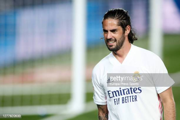 Isco Alarcon of Real Madrid looks on during the spanish league, La Liga, football match played between Real Madrid and Real Valladolid at Alfredo Di...
