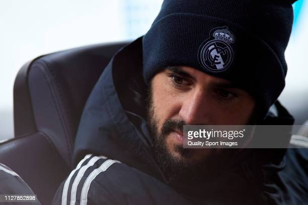 Isco Alarcon of Real Madrid looks on prior to the Copa del Rey Semi Final first leg match between FC Barcelona and Real Madrid at Nou Camp on...