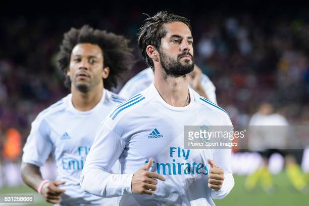 Isco Alarcon of Real Madrid warming up during the Supercopa de Espana Final 1st Leg match between FC Barcelona and Real Madrid at Camp Nou on August...