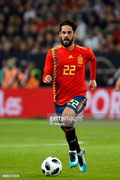 Isco Alarcon of Spain controls the ball during the international friendly match between Germany and Spain at EspritArena on March 23 2018 in...