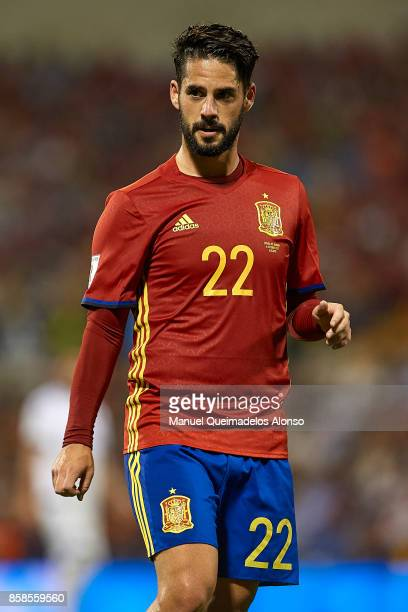 Isco Alarcon of Spain looks on during the FIFA 2018 World Cup Qualifier between Spain and Albania at Rico Perez Stadium on October 6 2017 in Alicante...