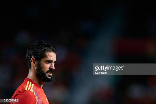 Isco Alarcon of Spain looks on during the UEFA Nations League A group four match between Spain and Croatia at Manuel Martinez Valero on September 11...