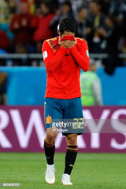 Isco Alarcon of Spain reacts during the 2018 FIFA World Cup Russia group B match between Spain and Morocco at Kaliningrad Stadium on June 25 2018 in...