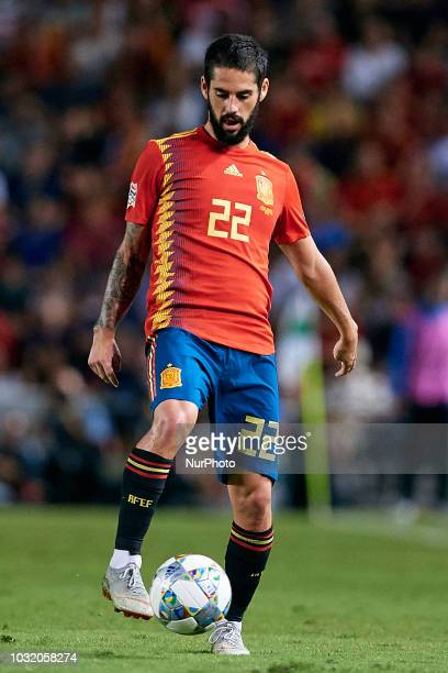 Isco Alarcon of Spain with the ball during the UEFA Nations League A group four match between Spain and Croatia at Manuel Martinez Valero on...