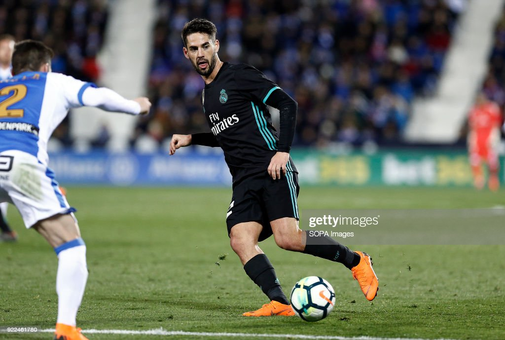 BUTARQUE, LEGANES, MADRID, SPAIN - : Isco (Real Madrid) during the La Liga Santander match between Leganes vs Real Madrid at the Estadio Butarque. Final Score Leganes 1 Real Madrid 3.