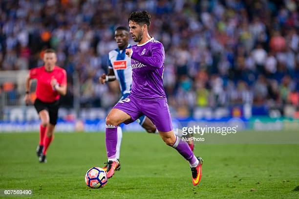 Isco during the match between RCD Espanyol vs Real Madrid for the round 4 of the Liga Santander played at RCD Espanyol Stadium on 18th Sep 2016 in...