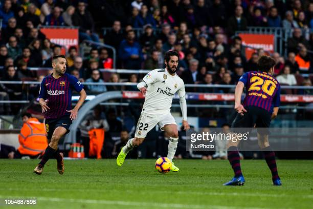 22 Isco from Spain of Real Madrid during the Spanish championship La Liga football match quotEl Classicoquot between FC Barcelona and Real Sociedad...