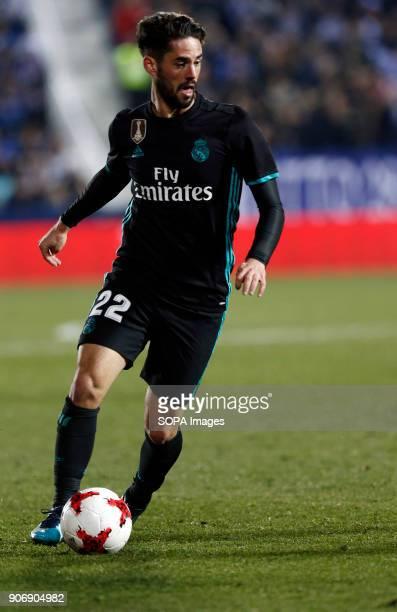 STADIUM LEGANéS MADRID SPAIN Isco in action during the match Jan 2018 Leganés and Real Madrid CF at Butarque Stadium Copa del Rey Quarter Final First...