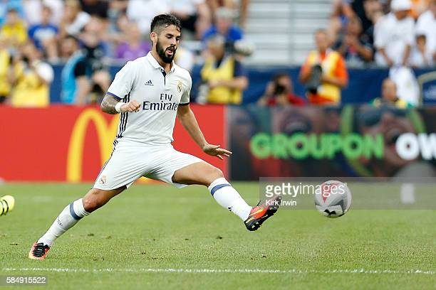 Isco of Real Madrid CF controls the ball during the game against Paris SaintGermain FC on July 27 2016 at Ohio Stadium in Columbus Ohio