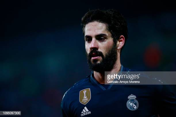 Isco of Real Madrid CF in action during the Copa del Rey Round of 16 second leg match between CD Leganes and Real Madrid at Estadio Municipal de...