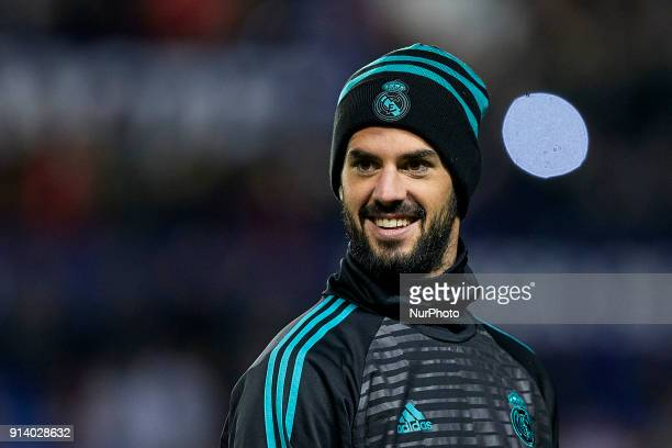 Isco of Real Madrid CF looks on prior to the La Liga game between Levante UD and Real Madrid CF at Ciutat de Valencia on February 3 2018 in Valencia...