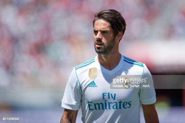Isco of Real Madrid during the International Champions Cup 2017 match between Real Madrid v Manchester United at Levi'a Stadium on July 23 2017 in...