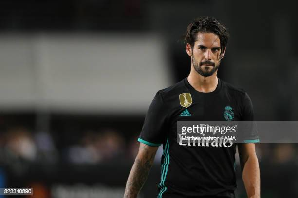 Isco of Real Madrid during the International Champions Cup 2017 match between Manchester City and Real Madrid at Los Angeles Memorial Coliseum on...