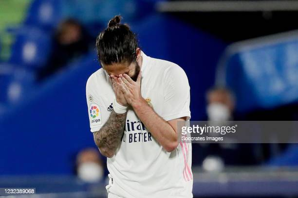 Isco of Real Madrid during the La Liga Santander match between Getafe v Real Madrid at the Coliseum Alfonso Perez on April 18, 2021 in Getafte Spain