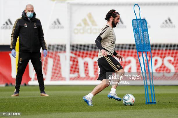 Isco of Real Madrid during the team's training session during the Covid-19 pandemic at Valdebebas training ground on May 15, 2020 in Madrid, Spain.