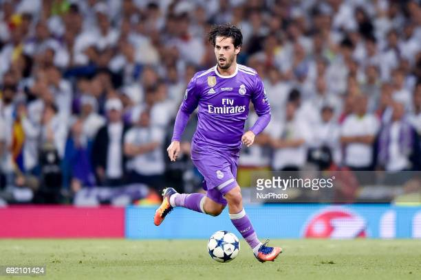 Isco of Real Madrid during the UEFA Champions League Final match between Real Madrid and Juventus at the National Stadium of Wales Cardiff Wales on 3...
