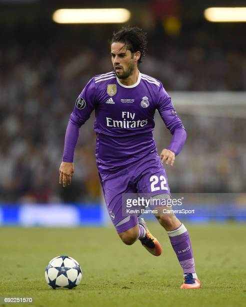 Isco of Real Madrid during the UEFA Champions League Final match between Juventus and Real Madrid at National Stadium of Wales on June 3 2017 in...