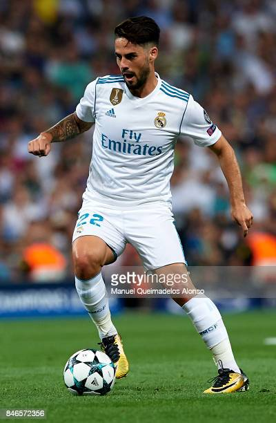 Isco of Real Madrid runs with the ball during the UEFA Champions League group H match between Real Madrid and APOEL Nikosia at Estadio Santiago...