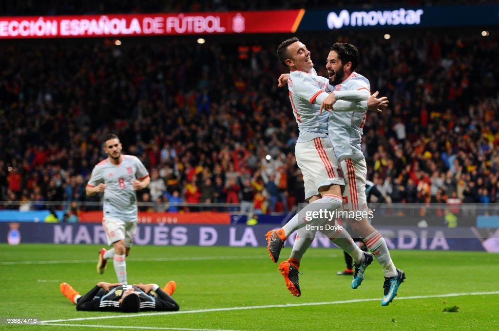 Spain v Argentina - International Friendly : Fotografía de noticias