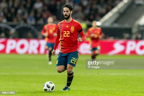 Isco of Spain controls the ball during the international friendly match between Germany and Spain at EspritArena on March 23 2018 in Duesseldorf...