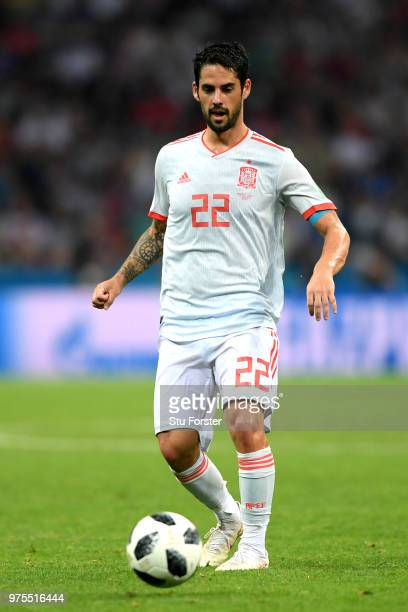 Isco of Spain in action during the 2018 FIFA World Cup Russia group B match between Portugal and Spain at Fisht Stadium on June 15 2018 in Sochi...