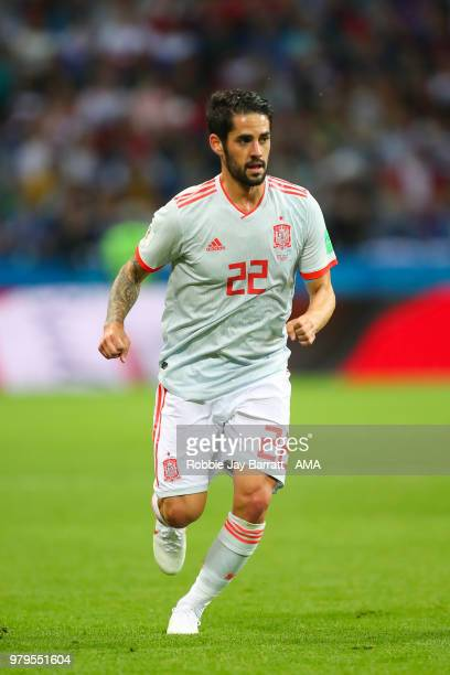 Isco of Spain in action during the 2018 FIFA World Cup Russia group B match between Iran and Spain at Kazan Arena on June 20 2018 in Kazan Russia