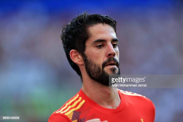 Isco of Spain looks on during the 2018 FIFA World Cup Russia Round of 16 match between Spain and Russia at Luzhniki Stadium on July 1 2018 in Moscow...