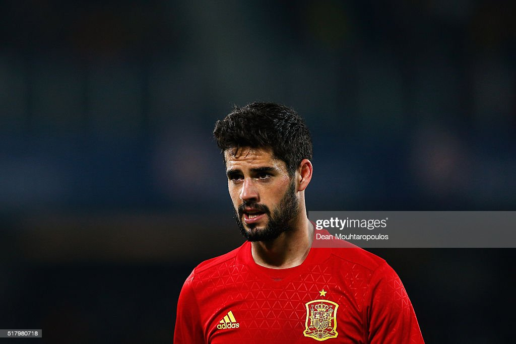 Isco of Spain looks on during the International Friendly match between Romania and Spain held at the Cluj Arena on March 27, 2016 in Cluj-Napoca, Romania.